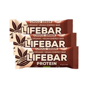 Raw Protein Bar with Chocolate & Hemp (3 pieces of 47g) - Raw Organic Vegan Snack Gluten Free | Lifefood