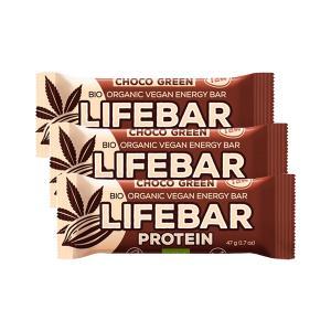 Μπάρα Πρωτεΐνης Σοκολάτα και Πρωτεϊνη Κάνναβης (3 τεμάχια των 47g) - Βιολογικό Σνακ Χωρίς Γλουτένη | Lifefood