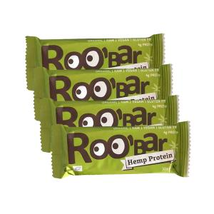 Raw Bar with Hemp (4 pieces of 30g) - Raw Organic Vegan Snack Gluten Free | Roo Bar