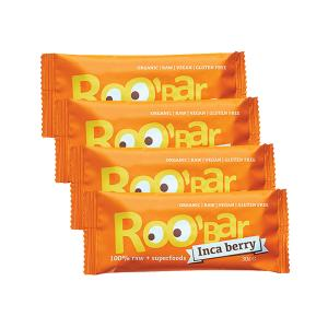 Organic Raw Bar with Inca Berry and Orange (4 pieces of 30g) - Roobar