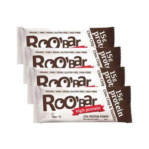 Μπάρα Πρωτεΐνης με Σοκολάτα και Βανίλια (4 τεμάχια των 60g) - Ωμό Βιολογικό Σνακ Χωρίς Γλουτένη | Roobar