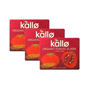 Organic Tomato and Herb Stock Cubes (3 pieces of 66g) - Vegan Gluten Free Lactose Free | Kallo