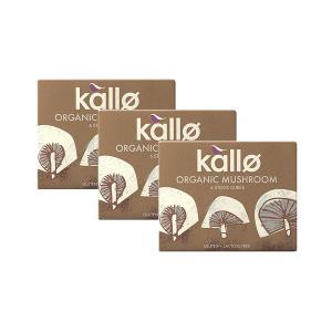 Organic Mushroom Stock Cubes (3 pieces of 66g) - Vegan Gluten Free Lactose Free | Kallo