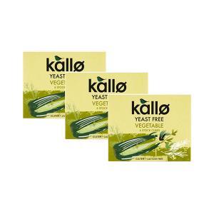 Vegetable Stock Cubes Yeast Free (3 pieces of 66g) - Vegan Gluten Free Lactose Free | Kallo