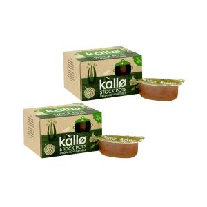 Concentrated Vegetable Stock Pots 4x24g - Pack of 2 | Organic Vegan Gluten Free | Kallo
