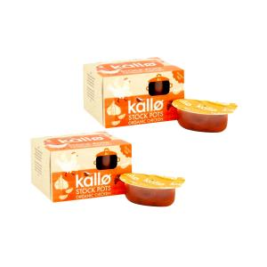 Concentrated Chicken Stock Pots 4x24g - Pack of 2 | Organic Gluten Free | Kallo