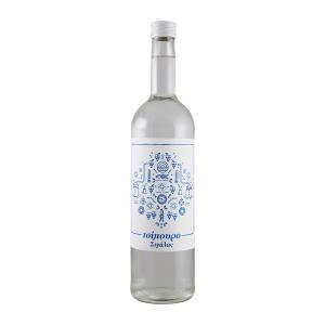 Tsipouro Sigala 700ml | Without Anise Double Distilled | Domaine Sigalas