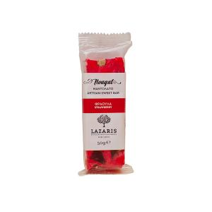 Nougat with Strawberry, Traditional Artisan Sweet Bar from Corfu Island, Greece.  A Delicious Snack or Treat by  Lazaris Distillery.