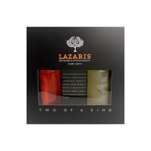 Κουτί Δώρου με  Λικέρ Κουμ Κουάτ 100ml και Λιμοντσέλο 100ml | Lazaris Distillery & Artisan Sweets
