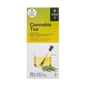 Elixir Tea 10 Sticks 20g   Greek Organic Hemp with Green Tea   Kannabio