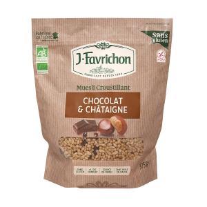 Βιολογικό Μούσλι με Σοκολάτα και Κάστανο 375g | Χωρίς Γλουτένη | Favrichon