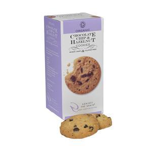 Organic Chocolate Chip and Hazelnut Cookies Gluten Free 150g | Against the Grain