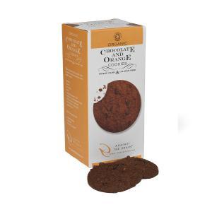 Organic Chocolate and Orange Cookies Gluten Free 150g | Against the Grain