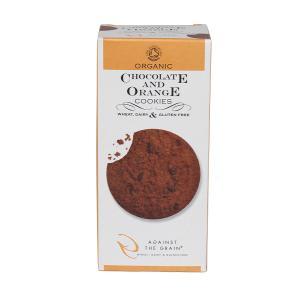 Βιολογικά Μπισκότα με Σοκολάτα και Άρωμα Πορτοκάλι 150g | Χωρίς Γλουτένη Χωρίς Λακτόζη | Against the Grain