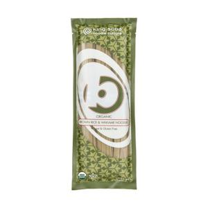 Organic Brown Rice and Wakame Noodles 250g | Gluten Free Lactose Free No Added Sugar | King Soba