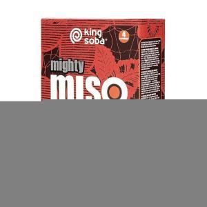 Σούπα MISO Hearty Red με Φύκια Wakame και Κρεμμυδάκια 100g   Βιολογική Χωρίς Γλουτένη Χωρίς Λακτόζη Χωρίς Ζάχαρη   King Soba