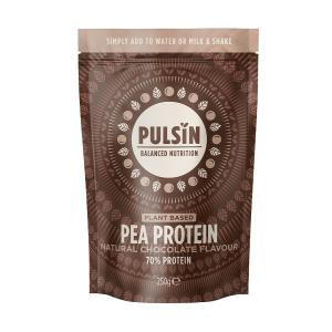 Natural Chocolate Flavoured Pea Protein 250g | Vegan Lactose Free No Added Sugar | Pulsin