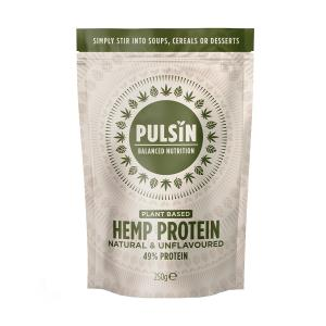 Hemp Protein 250g | Vegan Lactose Free No Added Sugar | Pulsin