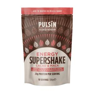 Cacao and Maca Energy Protein Supershake 300g | Vegan Lactose Free No Added Sugar | Pulsin