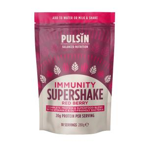 Red Berry Immunity Protein Supershake 280g | Vegan Lactose Free No Added Sugar | Pulsin