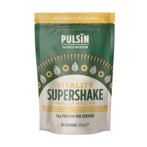 Vanilla Matcha Vitality Protein Supershake 300g | Vegan Lactose Free No Added Sugar | Pulsin
