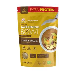 Awakening Bowl Protein with Carob and Banana 360g | Vegan Gluten Free Instant Breakfast | Iswari