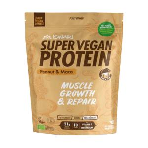 Super Vegan Protein with Peanut and Maca 350g | Organic Vegan Gluten Free | Iswari