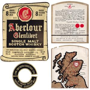 Aberlour Glenlivet 1965 8 Years Old 750ml | Single Malt Scotch Whisky | Aberlour
