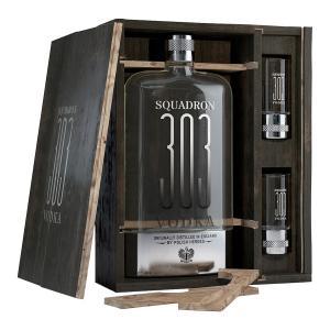 Squadron 303 Vodka Gift Box with 2 Shotter Glasses 700ml | English Vodka | Squadron