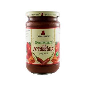 Σάλτσα Ντομάτας Αραμπιάτα 340g | Έτοιμη Βιολογική Σάλτσα Χωρίς Γλουτένη Χωρίς Ζάχαρη Χωρίς Λακτόζη Vegan | Zwergenwiese