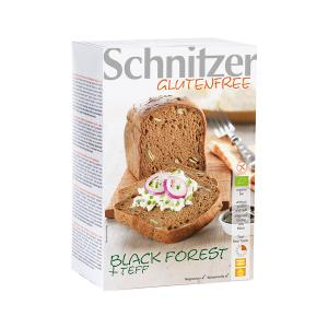 Organic Black Forest Bread with Teff Flour 500g | Vegan Lactose Free Gluten Free No Added Sugar | Schnitzer