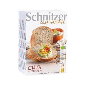 Organic Bread with Chia and Quinoa 500g | Vegan Lactose Free Gluten Free No Added Sugar | Schnitzer