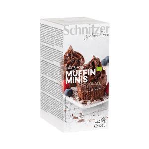Organic Mini Muffin with Chocolate 120g | Small Cake Gluten Free | Schnitzer
