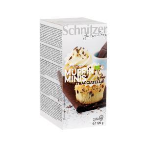 Organic Mini Muffin Stracciatella 120g | Small Cake Gluten Free Vegetarian | Schnitzer
