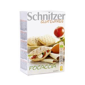 Organic Focaccia Gluten Fre 220g | Vegan Gluten Free Lactose Free No Added Sugar | Schnitzer
