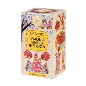 Organic Lemon and Ginger Infusion 20 bags 35g | Ministry of Tea