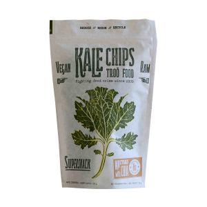 Kale Chips with Mustard and Chia 35g | Organic Snack Lactose Free Vegan | Troofood
