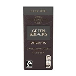 Organic Dark Chocolate Bar 70% Cocoa 90g | Green and Blacks