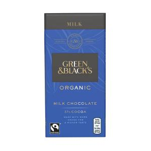 Organic Milk Chocolate Bar 37% Cocoa 90g | Green and Blacks
