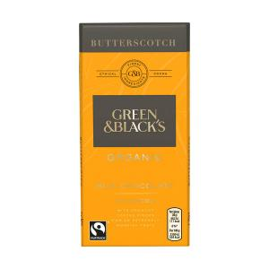 Organic Butterscotch Milk Chocolate Bar 90g | Green and Blacks