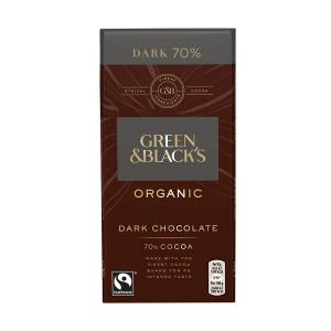 Organic Dark Chocolate Bar 85% Cocoa 90g | Green and Blacks