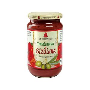 Organic Tomato Sauce Siciliana with Olive Oil and Capers 350g | Ready to Use Vegan Gluten Free Lactose Free No Added Sugar | Zwergenwiese