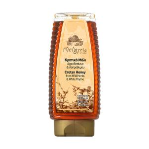 Cretan Honey from Wild Herbs and White Thyme Squeeze 500g | Natural Greek Unheated | Meligyris