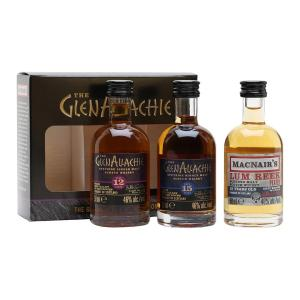 GlenAllachie Miniature Gift Set 3x50ml | Single and Blended Malt Scotch Whisky | GlenAllachie