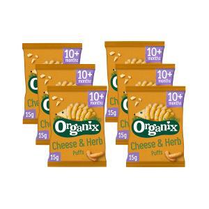 Goodies Cheese & Herb Puffs (6 bags of 15g) - Organix