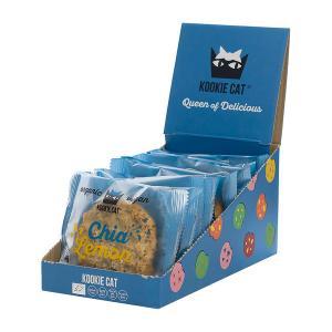Kookie Cat   Chia Lemon Cashew and Oat Cookie (12 pieces of 50g) - Organic Vegan Snack   Kookie Kat
