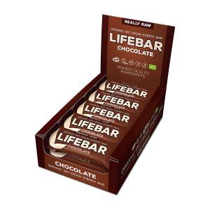 Raw Chocolate Energy Bar (15 pieces of 47g) - Raw Organic Vegan Snack Gluten Free | Lifefood