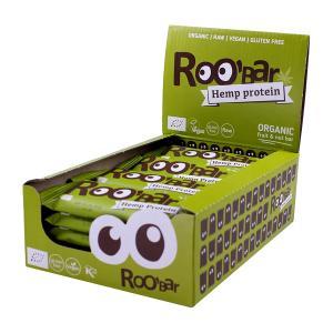 Raw Bar with Hemp (20 pieces of 30g) - Raw Organic Vegan Snack Gluten Free | Roobar