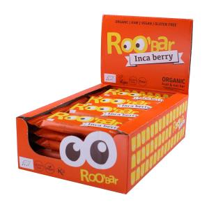 Organic Raw Bar with Inca Berry and Orange (20 pieces of 30g) | Roobar