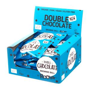 Brownie Ball Double Chocolate (12 pieces of 40g) - Raw Organic Snack Gluten Free | Roobar